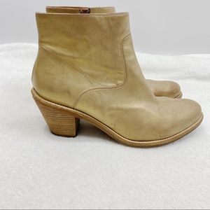 AllSaints metal Hessian leather gold ankle boots